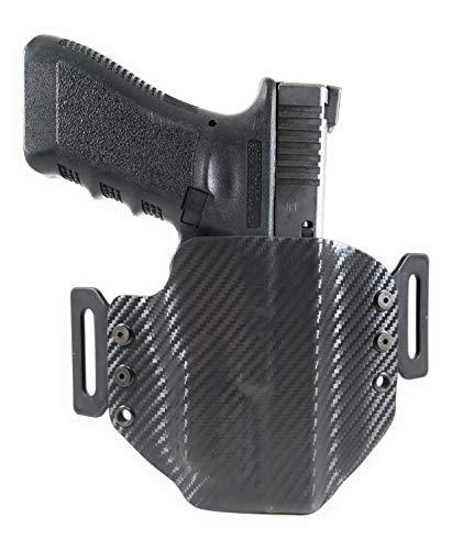 Tru-Fit Tactical OWB Kydex Gun Holster (Carbon Black) for OLIGHT PL-Mini 2 Available for 45+ Gun Models