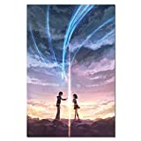 zhuifengshaonian Manga Movie Poster Anime Film Prints Your Name Kimi No Na WA Wall Art Picture Love Cartoon Canvas Painting 50X70Cm (L:425)