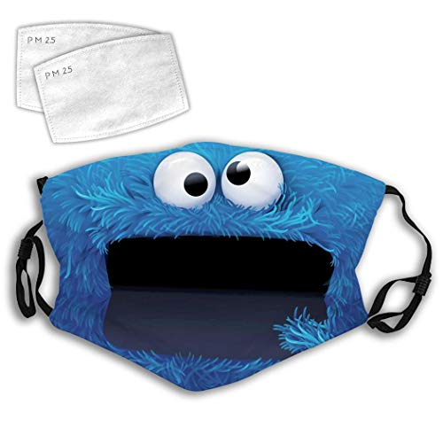 Cookie Monster Face Mouth Washable Reusable Adjustable Earring Double Layer Upgrade Dust Coverfor With Chip