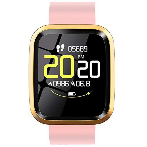 Huante Reloj inteligente L7 IP68 reloj inteligente de las mujeres de contacto completo rastreador de fitness para los hombres reloj inteligente para IOS Android rosa