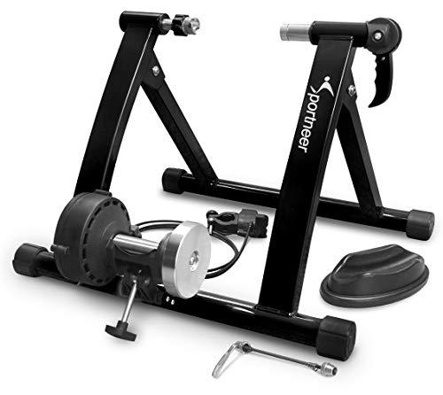 Sportneer 自転車トレーナ 自転車トレーニング 固定式 自転車ローラー 6段階負荷調整 マグネット式 26~28...