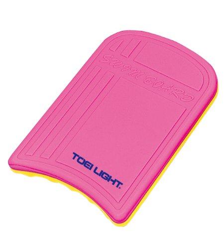 TOEI LIGHT(トーエイライト) スイミングボード ピンク/黄 B7894P ビート板 練習用 表面スキン層により強度アップ 裏面スリット採用
