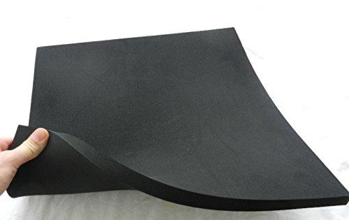 (87,20 €/m²) Zellkautschuk, ca. 25 x 50 x 2 cm, Moosgummi Polster Motorradsitz Höcker, schwarz