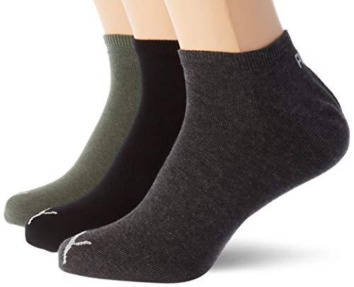 PUMA Unisex Plain Sneaker - Trainer Socks (3 Pack)