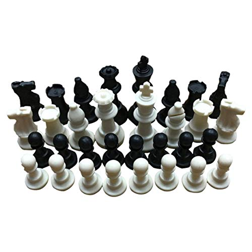 Timetided 65MM 32 Piezas de ajedrez Medievales/plástico Completo Chessmen International Word Chess Game Entertainment