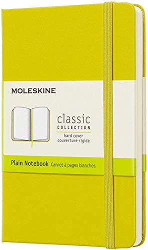 Moleskine Classic Notebook, Hard Cover, Pocket (3.5 x 5.5) Plain/Blank, Dandelion Yellow, 192 Pages