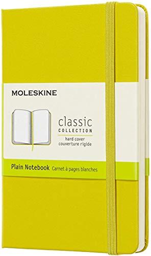 Moleskine Classic Notebook, Taccuino con Pagine Bianche, Copertina Rigida e Chiusura ad Elastico, Formato Pocket 9 x 14 cm, Colore Giallo Dente di Leone, 192 Pagine