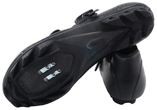 LUCK Zapatillas de Ciclismo MTB ODÍN con Suela de Carbono y Cierre milimétrico de precisión. (44 EU, Negro)