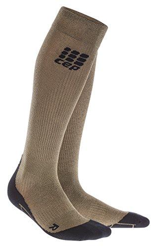 CEP Damen Metalized Kompressionssocken Socken, Gold/schwarz, IV-41-43 EU