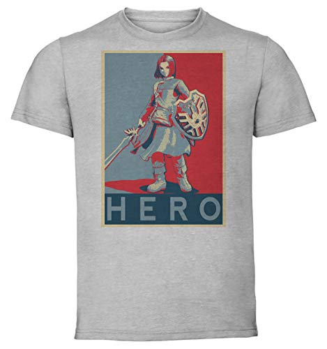 Instabuy T-Shirt Unisex - Grey Shirt - Propaganda - Dragon Quest XI Hero
