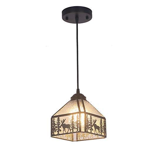 Lámpara translúcida de cristal manchada de Tiffany Nórdica decoración creativa restaurante ventanal balcón retro americana y porche café luz lámpara pasillo de entrada