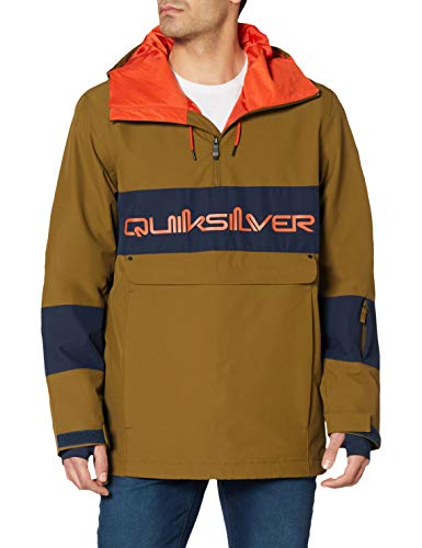 Quiksilver Steeze - Chaqueta Shell Para Nieve Para Hombre Chaqueta Shell Para Nieve, Hombre, military olive, S