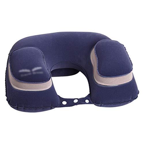 YWSZJ Almohada Extra Grande en Forma de U Almohada y Tumbona con Forma de U de Espuma de Memoria Cuello Almohada, con los aceites Esenciales de ratón Ayudar a Dormir (Color : Blue)