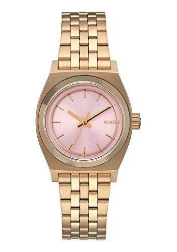 Nixon Small Time Teller Reloj luz oro rosa