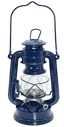 Vintage Kerosene Lamp,camping Lantern,outdoor Mastlight Tent Light,height 19cm (Navy blue)