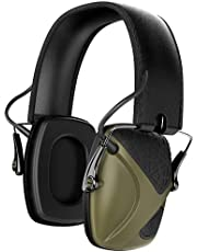Awesafe GF01+ Casco Tiro Electronico Protectores Auditivos Especialmente Diseñados para Cazadores y Tiradores , NRR 22 ,Ideal para Disparar y Cazar (Camuflaje) ,+Funda de Almacenamiento (Verde)