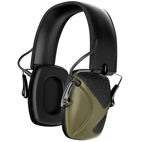 AWESAFE GF01 Casco Tiro Auriculares de Caza, Plegables Defensores del Oído con Tecnología de Cancelación de Ruido Protectores Auditivos Especialmente Diseñados para Cazadores y Tiradores -Verde