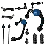 Detroit Axle - 4WD Front Upper Control Arms For 2009-2014 Ford F-150 [No Raptor Models], w/Ball Joints, Tie Rods, Sway Bars - 12pc Suspension Kit