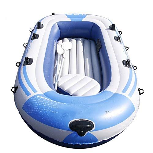 Engrosada 4 Persona Kayak Inflable Estable Conjunto Barco Inflable Portátil Plegable De Goma Explorador Barco Canoa Y Pesca Cómodo