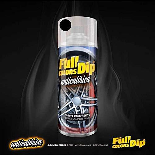 AutoFullCar - Atomiseur à peinture Full Colors Dip pour étriers de frein, anti-calorique, acrylique, permanente Noir