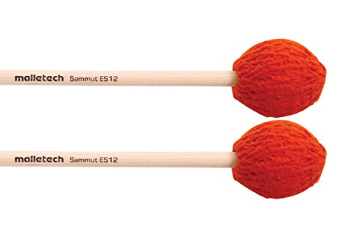 マレテック Malletech マリンバ・マレット E.サミュシリーズ 【ES12】 ハンドル:バーチ(Birch) 硬さ:ソフト~ミディアムハード カラー:オレンジ