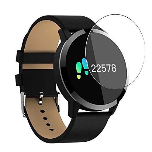 Vaxson 3 Stück 9H Panzerglasfolie, kompatibel mit OUKITEL W1 Smartwatch smart watch, Panzerglas Schutzfolie Displayschutzfolie