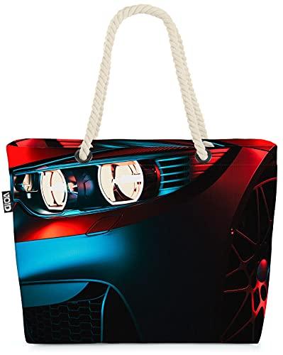 VOID Sportwagen Felgen Reifen Auto Strandtasche Shopper 58x38x16cm 23L XXL Einkaufstasche Tasche Reisetasche Beach Bag