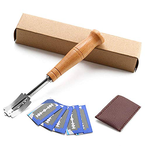 Aquarius CiCi Hand Crafted Bread Lame Included 5 Blades and Leather Protective Cover Best Dough Scoring Tool