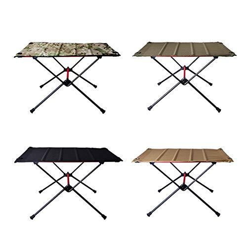 KOLOSM Mesas Portátiles Plegables □ Mesa de Camping Plegable portátil Muebles de Exterior Escritorio para la Cena para la Fiesta Familiar Picnic Mesa Plegable (Color : 01)