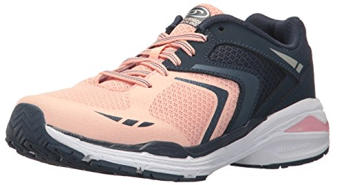 Dr. Scholl's Shoes womens Blitz Fashion Sneaker, Navy/Pink, 10 US