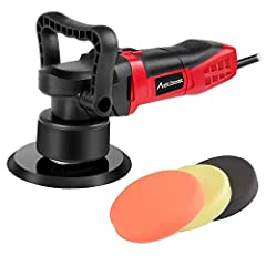 MEET YOUR NEEDS: With powerful motor, this random orbital polisher is perfect for polishing and removing swirls, scratches, and defects from all painted vehicles, reappearing the shine of your car. You can also use it to sand wood or metal. VARIABLE ...