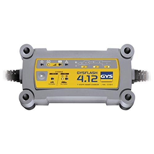 GYS - Gysflash 4.12 - Chargeur/Maintien de Charge - Inverter - 230V Livre avec Pinces et Cosses de Connexion