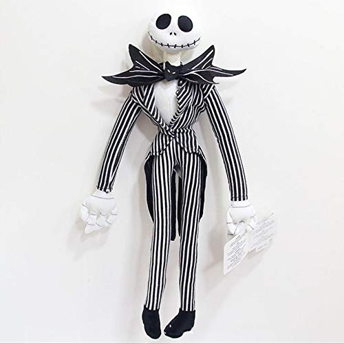 CHITOP 1 pcs! Funny The Nightmare Before Christmas -Jack Skellington Plush Doll Peluche Stuffed Kids Toys Dolls - for Children Gifts