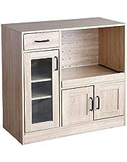 家具350 レンジ台 食器棚 キッチン収納 キッチンキャビネット 80cm幅 90cm幅