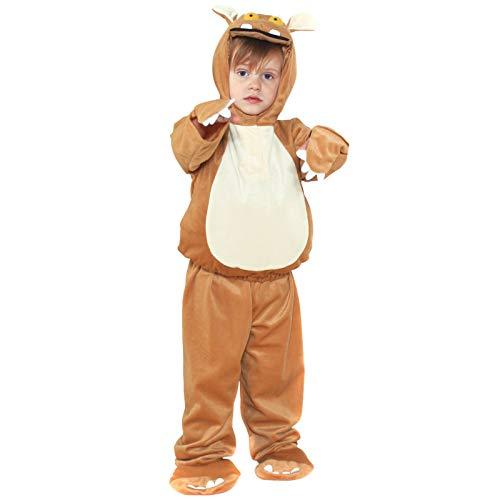 Costume Childs: Haut Gruffalo Child 2PC avec cagoule et pantalon W Fleet (3-5 ans)