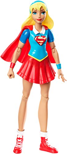 DC Super Hero Girls Figurine Articulée Supergirl de 15 cm blonde en tenue de super-héroine à collectionner, jouet enfant, DMM34