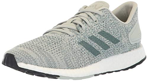 adidas Women's Pureboost DPR Running Shoes, ash Silver/raw Green/aero Green, 10.5 M US