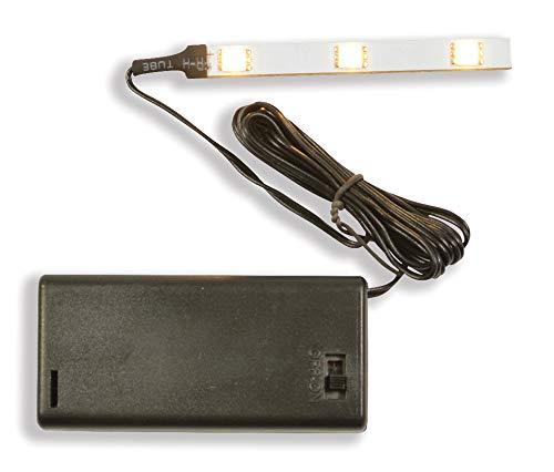 Riffelmacher 3er LED Streifen 78433 - Weiß - für Innen Weihnachtskrippe - Toll zur Modelleisenbahn, Zubehör Weihnachten Krippe