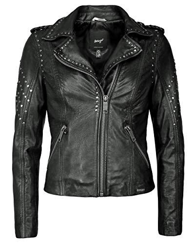 Maze Damen Lederjacke Mit Asymmetrischem Reißverschluss Titana Black M