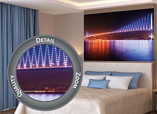 GREAT ART XXL Poster – Puente del Bósforo en la Noche – Mural Motivo Horizonte Ciudad Metropolis Imagen Turismo Luces y Nocturna City Cartel De La Foto Y Decoración (140 x 100 cm)