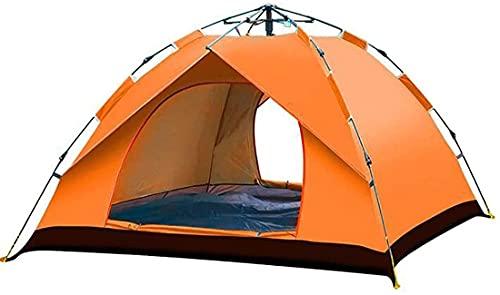 HTDHS Tienda de campaña, Automático Impermeable Anti-UV Exterior 4 Personas para Picnic, Desierto, montañismo, Ciclismo y Juego Infantil (Color : Orange)