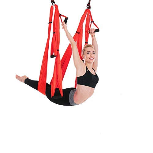 Aerial Yoga Hammock 28M Aerial Pilates Yoga Swing Set Antigravity Yoga Inversion Exercises Improved Flexibility amp Core Strength  Extension Straps