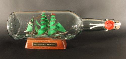 Alexander von Humboldt 700 ml runde Flasche Buddelschiff Flaschenschiff