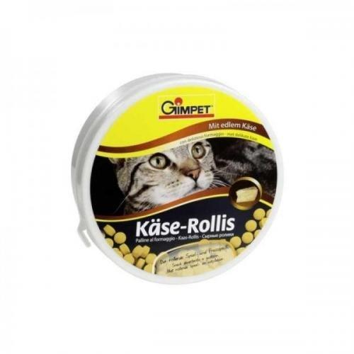Mühlan Zoobedarf Gimborn Käse - Rollis 400 Stück, Katzenleckerli, Katzenfutter