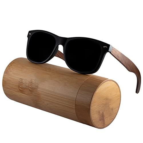 Holzwurm Sonnenbrille mit Holzbügeln...