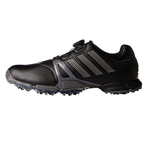 Adidas Men's Powerband Tour Boa Closure Athletic Leather Golf Shoes Black (11.0M)
