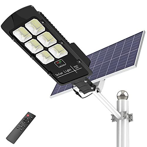 400W Solar Street Lights Outdoor, Motion Sensor Solar Powered Light Dusk to Dawn 20000 Lumens Waterproof IP66 Security Led Solar Flood Light for Parking Lot/ Stadium/ Yard/ Garage/Garden…