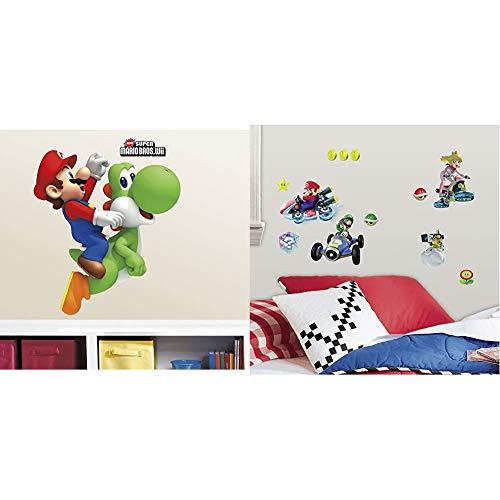 SUPER MARIO YOSHI SMASH THROUGH WALL STICKER VINYL ART DECAL 3D EFFECT BEDROOM