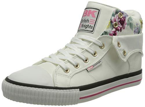 British Knights ROCO, Zapatillas Mujer, Color Blanco con Flores, 36 EU