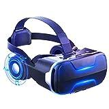 JYMYGS Gafas VR, Gafas de Realidad Virtual, VR Glasses Visión Panorámico 360 Grado Película 3D Juego Immersivo para Móviles 4.0-6.0 Pulgada para iPh X/7/6s 6/Plus, Galaxy s8/ s7, etc. N095JL